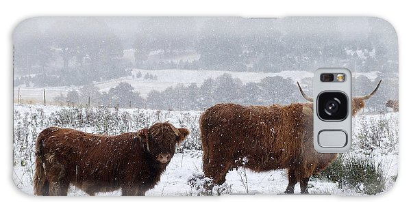 Galaxy Case - Highlanders In Snow by Phil Banks