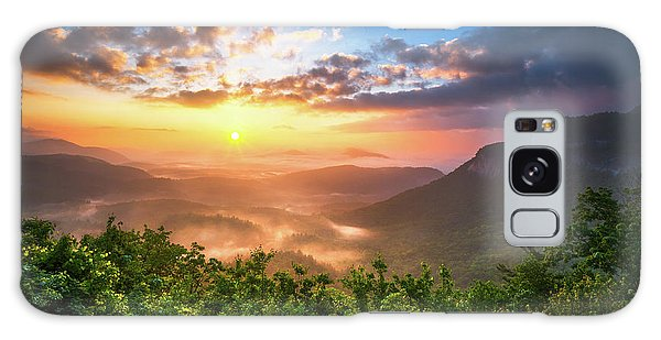 Highlands Sunrise - Whitesides Mountain In Highlands Nc Galaxy Case