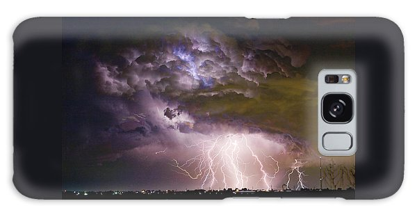 Highway 52 Storm Cell - Two And Half Minutes Lightning Strikes Galaxy Case