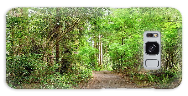 Galaxy Case - Hiking Trail Through Forest Along Lewis And Clark River by David Gn