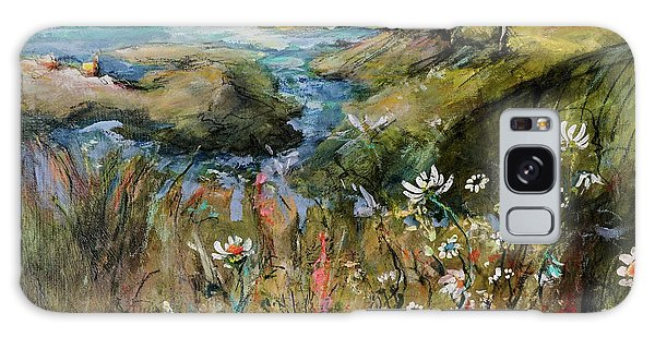 Hill Top Wildflowers Galaxy Case