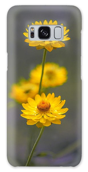 Stork Galaxy S8 Case - Hillflowers by Az Jackson
