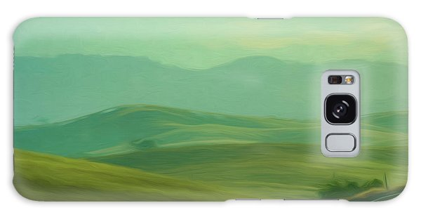 Hills In The Early Morning Light Digital Impressionist Art Galaxy Case