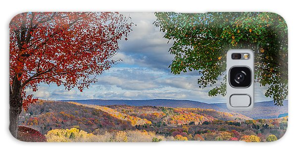 Hills Of Autumn Galaxy Case by April Reppucci