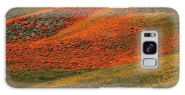 Hills Of Gold And Yellow Near Antelope Valley Poppy Preserve Galaxy Case