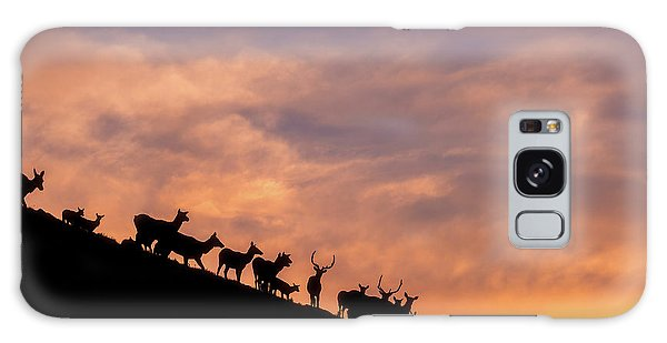 Galaxy Case featuring the photograph Hillside Elk by Darren White