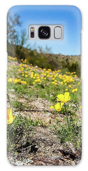 Hillside Flowers Galaxy Case