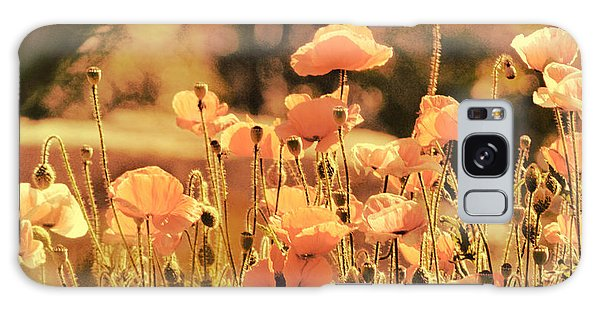 Hillside Poppies And Sunset Galaxy Case