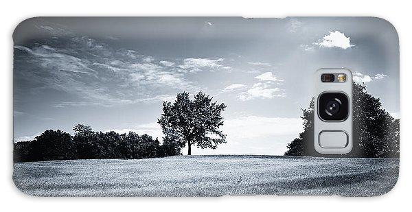 Hilly Black White Landscape Galaxy Case