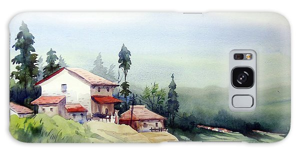 Himalaya Village Galaxy Case by Samiran Sarkar