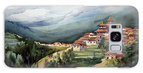 Himalayan Village  Galaxy Case by Samiran Sarkar