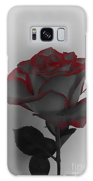 Hints Of Red- Single Rose Galaxy Case