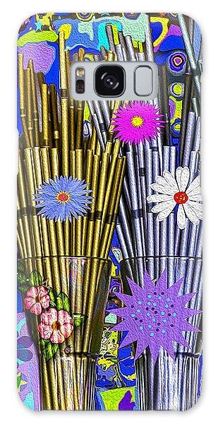 Galaxy Case featuring the digital art Hippie Hippie Straws by Eleni Mac Synodinos