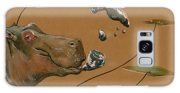 Hippopotamus Galaxy S8 Case - Hippo Bubbles by Juan  Bosco