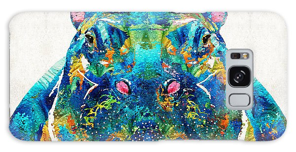 Hippopotamus Galaxy S8 Case - Hippopotamus Art - Happy Hippo - By Sharon Cummings by Sharon Cummings