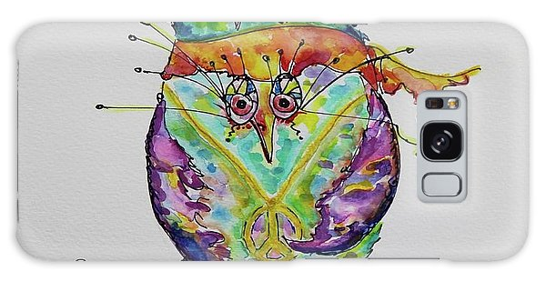 Hippy Owl- Vertical Format Galaxy Case