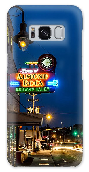 Historic Almond Roca Co. During Blue Hour Galaxy Case