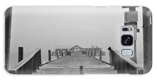 Historic Anna Maria City Pier In Fog Infrared 52 Galaxy Case