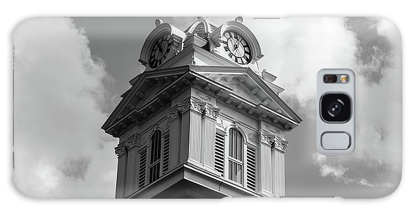 Galaxy Case featuring the photograph Historic Courthouse Steeple In Bw by Doug Camara