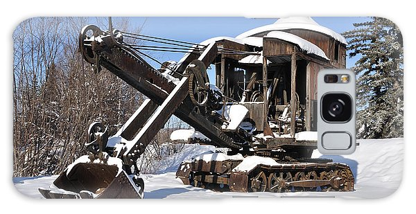 Historic Mining Steam Shovel During Alaska Winter Galaxy Case