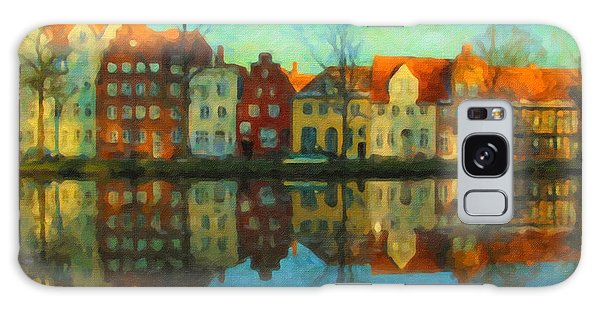 Historic Old Town Lubeck Galaxy Case
