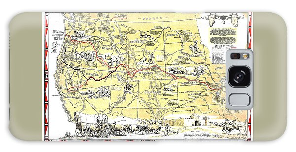 Historic Pioneer Trails Map 1843-1866 Galaxy Case