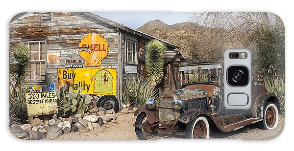 Historic Route 66 - Old Car And Shed Galaxy Case