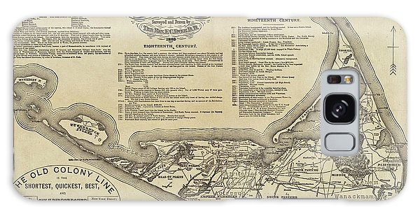 Historical Map Of Nantucket From 1602-1886 Galaxy Case