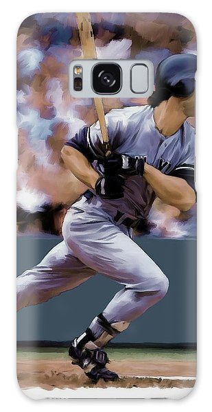Hit Man  Don Mattingly  Galaxy Case by Iconic Images Art Gallery David Pucciarelli