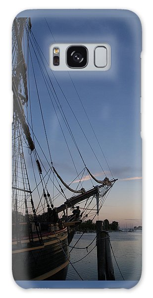 Hms Bounty Ship - Sunset At The Cove Galaxy Case