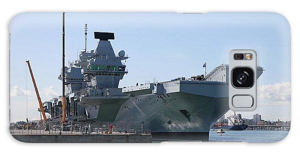 Hms Queen Elizabeth Aircraft Carrier At Portmouth Harbour Galaxy Case