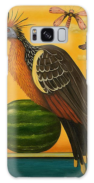 Strange Clouds Galaxy Case - Hoatzin 2 by Leah Saulnier The Painting Maniac