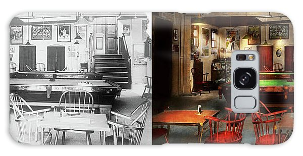 Hobby - Pool - The Billiards Club 1915 - Side By Side Galaxy Case by Mike Savad