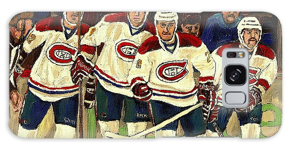 Hockey Art The Habs Fab Four Galaxy Case