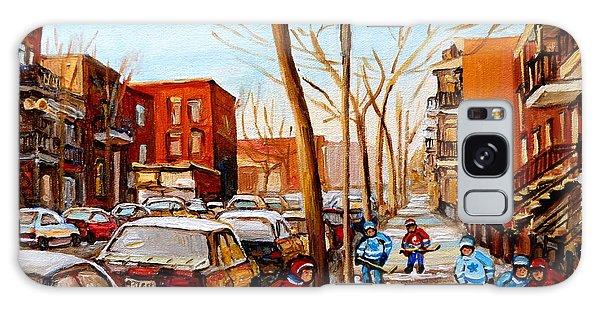 Hockey On St Urbain Street Galaxy Case by Carole Spandau