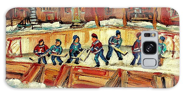 Hockey Rinks In Montreal Galaxy Case by Carole Spandau