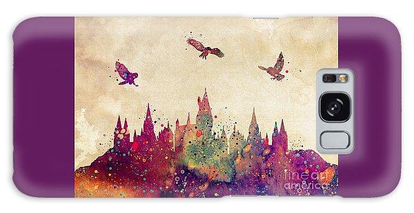Castle Galaxy Case - Hogwarts Castle Watercolor Art Print by Svetla Tancheva
