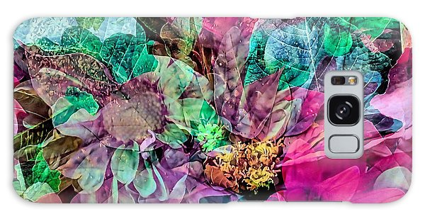 Holiday Floral Composite Galaxy Case by Janice Drew