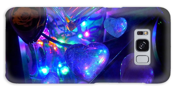 Holiday Hearts Galaxy Case by Marlene Rose Besso