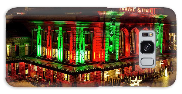 Holiday Lights At Union Station Denver Galaxy Case