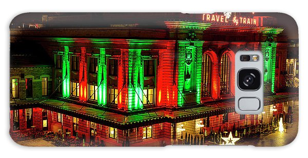 Holiday Lights At Union Station Denver Galaxy Case by Teri Virbickis