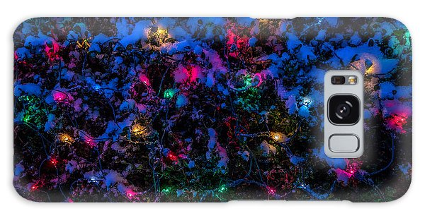 Holiday Lights In Snow Galaxy Case