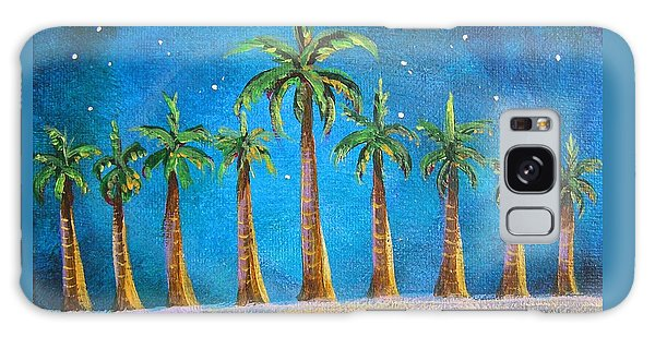 Holiday Palms Galaxy Case