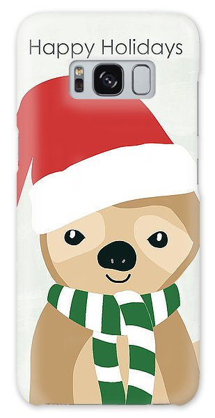 Scarf Galaxy Case - Holiday Sloth- Design By Linda Woods by Linda Woods