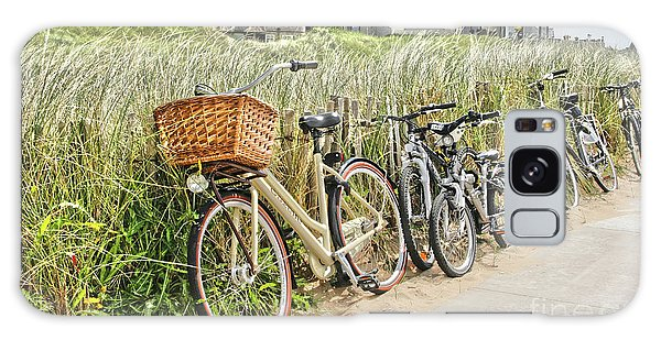Holland - Bicycles Parked Along The Fence Galaxy Case