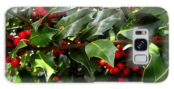 Holly Branches Galaxy Case by Shirley Sirois