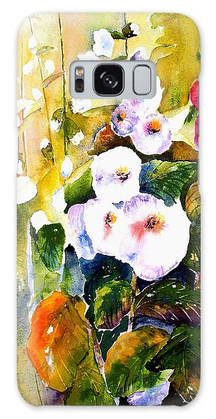 Hollyhock Garden 1 Galaxy Case