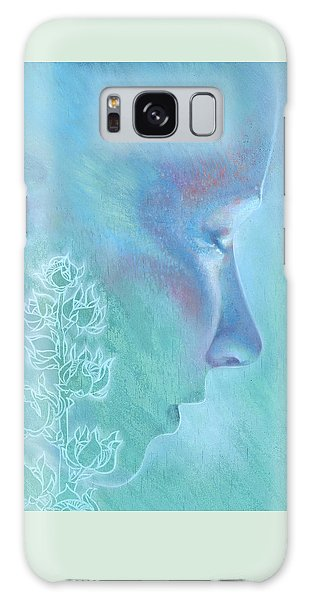 Galaxy Case featuring the painting Hollyhock by Ragen Mendenhall