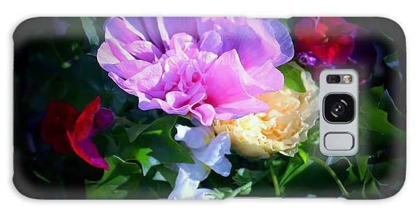 Hollyhocks And Snapdragons  Galaxy Case