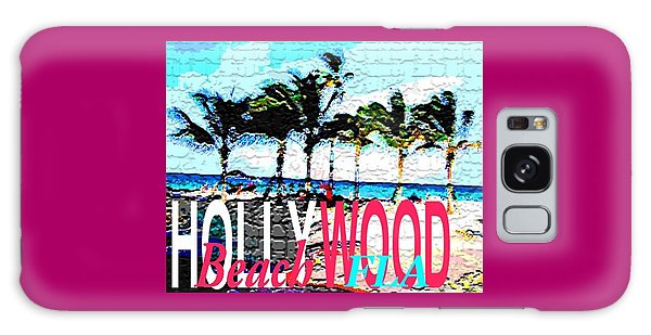 Hollywood Beach Fla Poster Galaxy Case